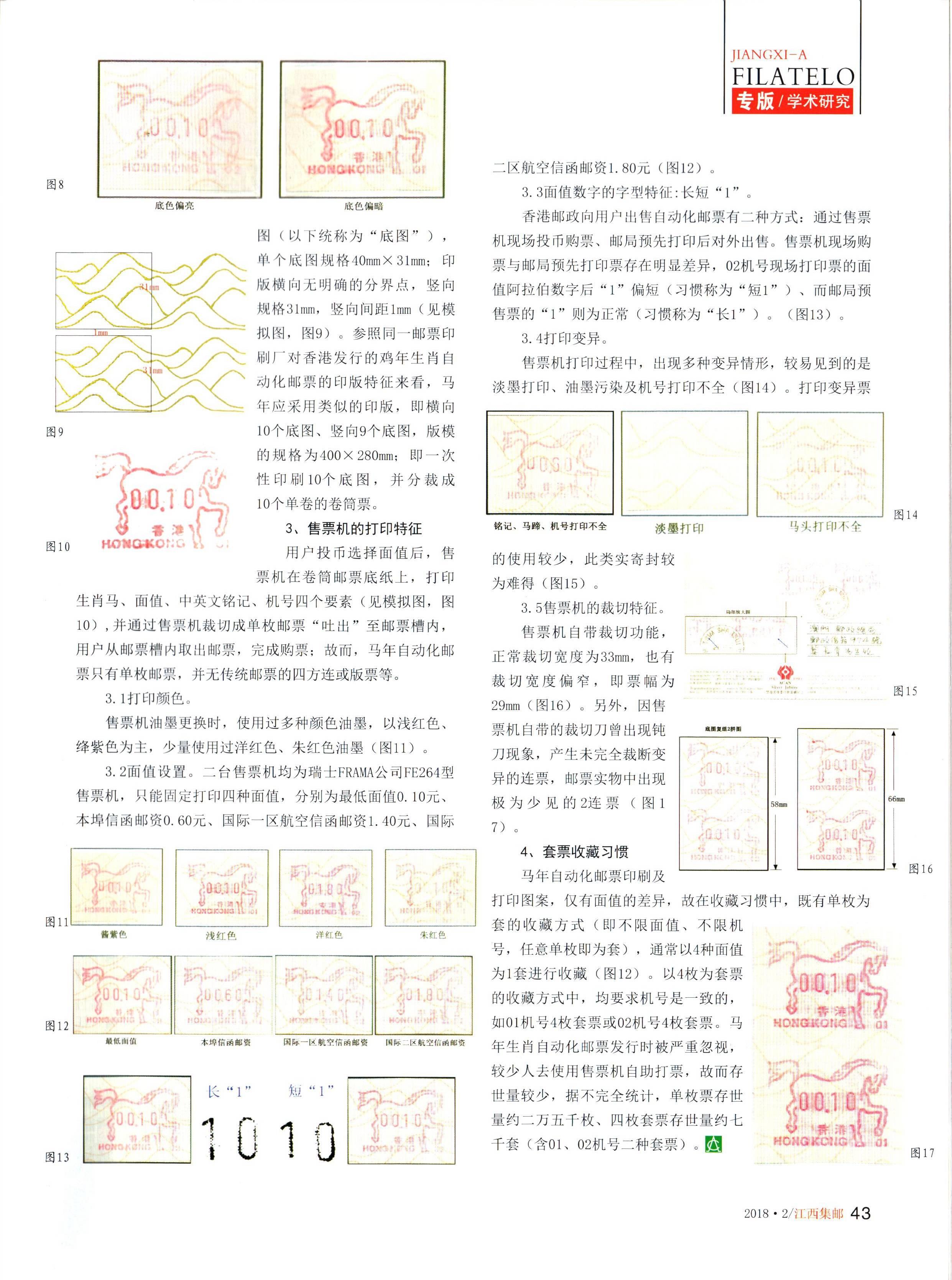 香港1990年马年生肖自动化邮票2(江西集邮2018